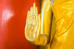 Guld- hand av Buddha Arkivbilder
