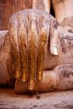 Guld- hand av den stora Buddha Arkivbild