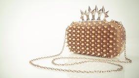 Guld- handväska Royaltyfri Bild