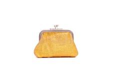 Guld- handväska Royaltyfria Bilder