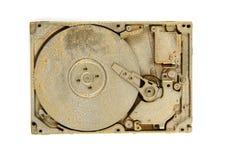 Guld- harddrive Arkivbilder