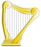 Guld- harpa Arkivfoton
