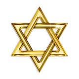 Guld- hexagram Arkivfoton