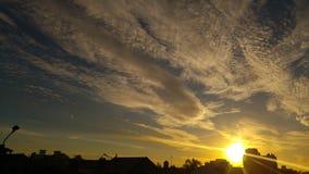 Guld- himmel Arkivfoto