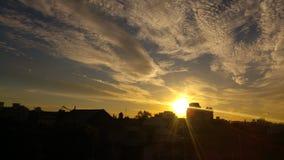 Guld- himmel Royaltyfri Bild