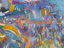 Guld- himmelbakgrund för expressionism Moderiktig måla textur vektor illustrationer
