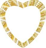 guld- hjärta Royaltyfria Bilder