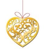 Guld- hjärta Royaltyfri Fotografi