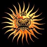 guld- hjärta Arkivfoton