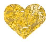 Guld- hjärta Fotografering för Bildbyråer