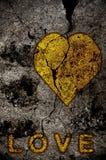 guld- hjärta Royaltyfri Bild