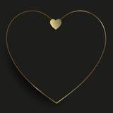 guld- hjärta för bakgrund Royaltyfri Foto