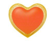guld- hjärta för bur Arkivbilder