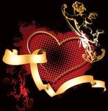 guld- hjärta för cupid vektor illustrationer