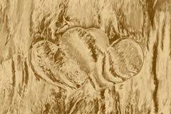 Guld- hjärtacollage för förälskelsekonstverktextur, garnering royaltyfri illustrationer