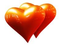 guld- hjärtor royaltyfri illustrationer