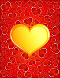 guld- hjärta Royaltyfria Foton
