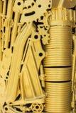guld- hjul för kugghjul Royaltyfri Bild