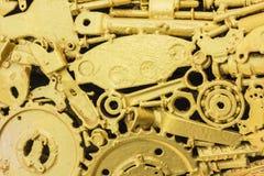 guld- hjul för kugghjul Arkivbilder