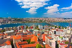Guld- horn i Istanbul arkivbilder