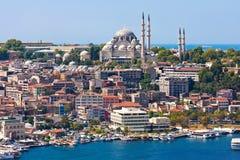 Guld- horn i Istanbul arkivbild