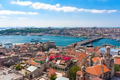 Guld- horn i Istanbul arkivfoto