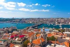 Guld- horn i Istanbul royaltyfria foton