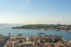 Guld- horn- Istanbul Royaltyfria Bilder