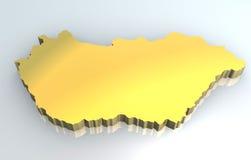 guld- hungary översikt för 3d vektor illustrationer