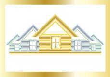 guld- hus Arkivbilder