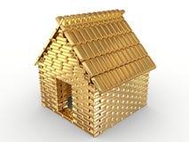 guld- hus Stock Illustrationer