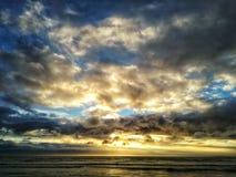 Guld i himlen arkivfoto