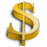 guld- illustrationsymbol för stor dollar 3d vektor illustrationer