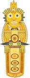 Guld- indisk totem Royaltyfri Bild