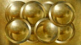 Guld- industral bollbakgrund royaltyfri bild