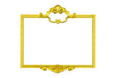 Guld- inrama isolaten Fotografering för Bildbyråer