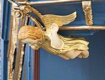 guld- interior för ängelbarockkyrka Royaltyfria Foton
