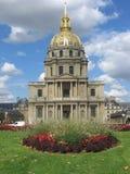 guld- invalidesles paris för kupol Arkivfoto