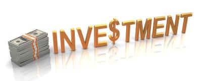 guld- investering 3d Arkivbilder