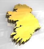 guld- ireland översikt för 3d vektor illustrationer