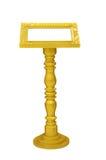 guld isolerad podiumwhite Arkivbild
