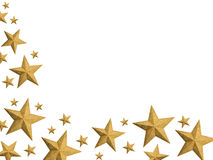 guld- isolerad stjärnaström för jul vektor illustrationer