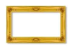 guld- isolerad white för bakgrundsram Arkivfoto