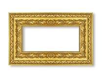 guld- isolerad white för bakgrundsram Arkivbild