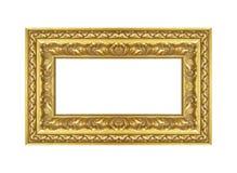 guld- isolerad white för bakgrundsram Arkivbilder