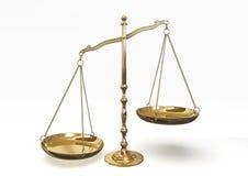 guld isolerade objekt över vita scales Royaltyfri Bild