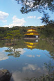 guld- japan kinkakujikyoto paviljong Royaltyfria Foton