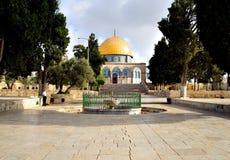 guld- jerusalem för kupol moské royaltyfri bild