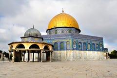 guld- jerusalem för kupol moské Arkivfoton