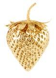 Guld- jordgubbe Royaltyfria Foton
